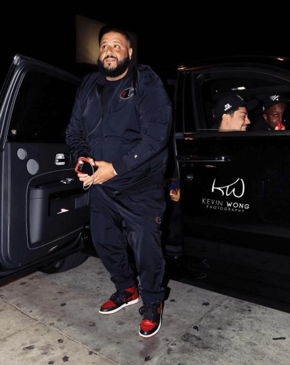 """DJ Khaled in the Air Jordan 1 Retro High OG """"Bred"""""""
