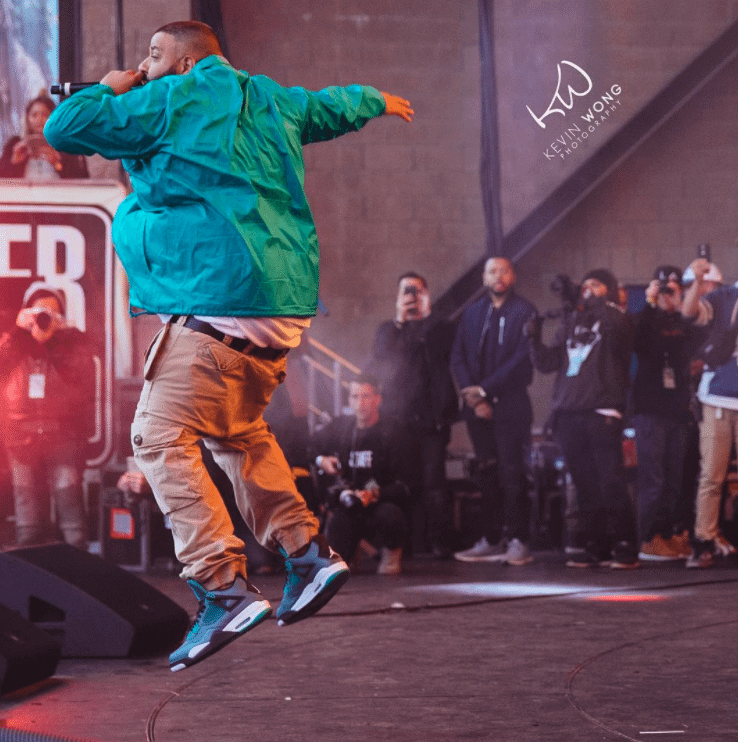"DJ Khaled in the Air Jordan 4 Retro ""Teal"""