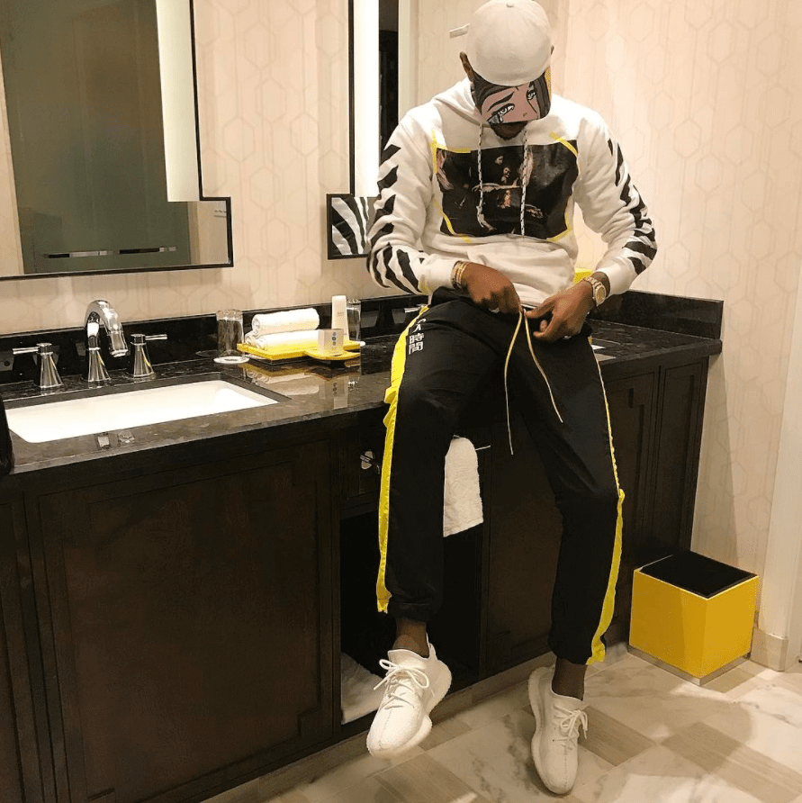 "Fabolous in the Adidas Yeezy Boost 350 V2 ""Cream White"""
