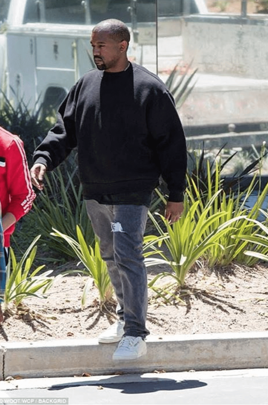 "Kanye West in the Adidas Powerphase ""Calabasas"""