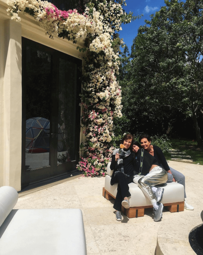 "Kylie Jenner in the Nike Air Max 97 OG ""Silver Bullet"" & Kris Jenner in the Adidas Yeezy Boost 350 V2 ""Cream White"""