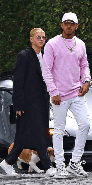 "Lewis Hamilton in the Adidas Yeezy Boost 350 V2 ""Zebra"""