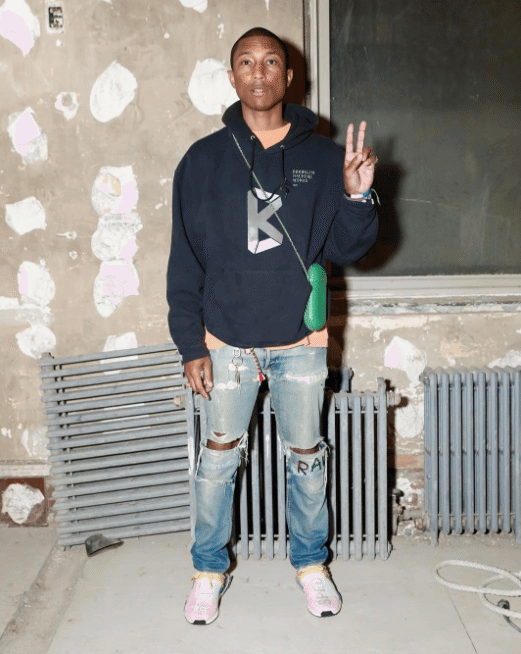 """Pharrell in the PW x Adidas Originals NMD """"Human Race"""""""