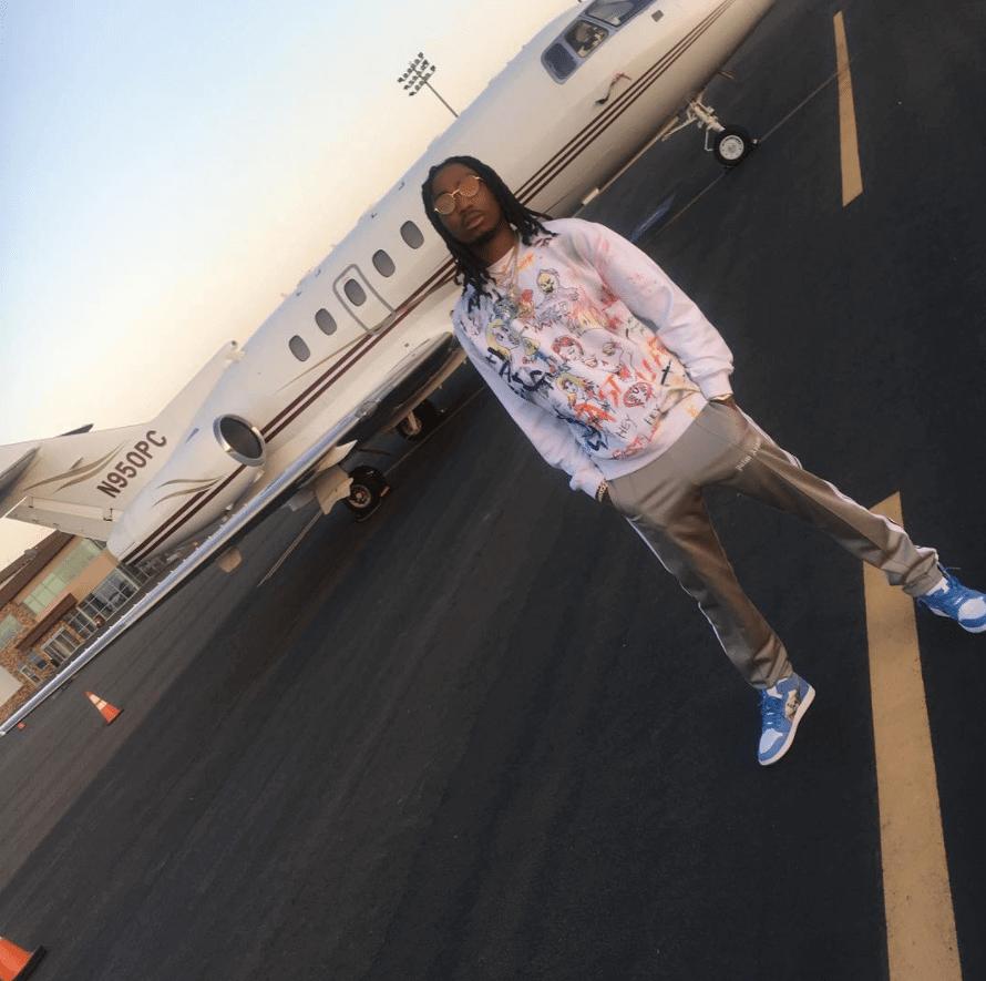 """Quavo in the Air Jordan 1 Omega """"UNC"""""""