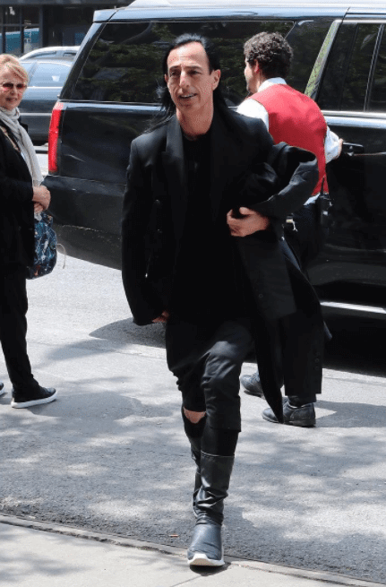 Rick Owens in the Rick Owens x Adidas Sneakers