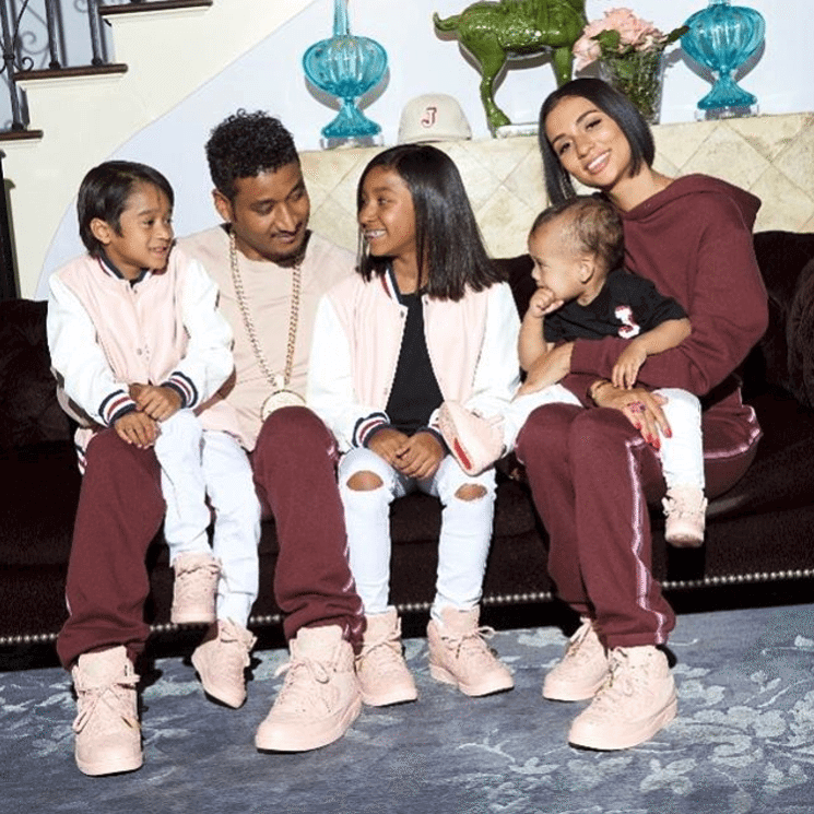 "Don C and his Family in the Just Don x Air Jordan 2 Retro ""Arctic Orange"""