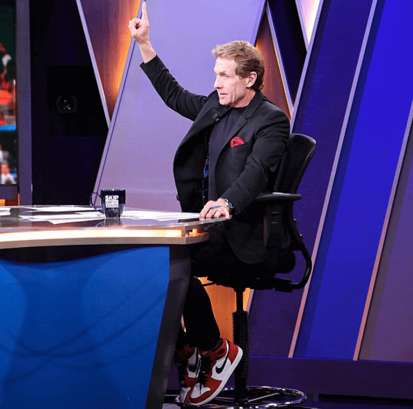 "Skip Bayless in the Air Jordan 1 ""Chicago"""