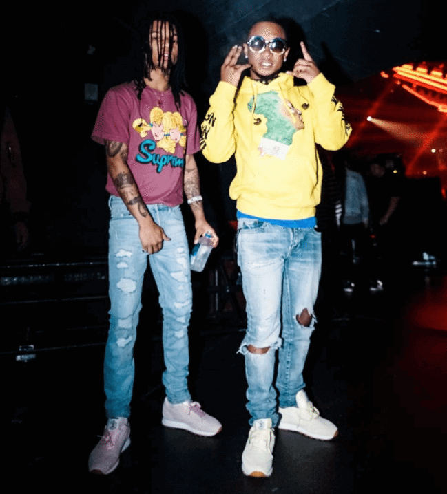 Swae Lee and Slim Jimmy in the Reebok Classic Leather