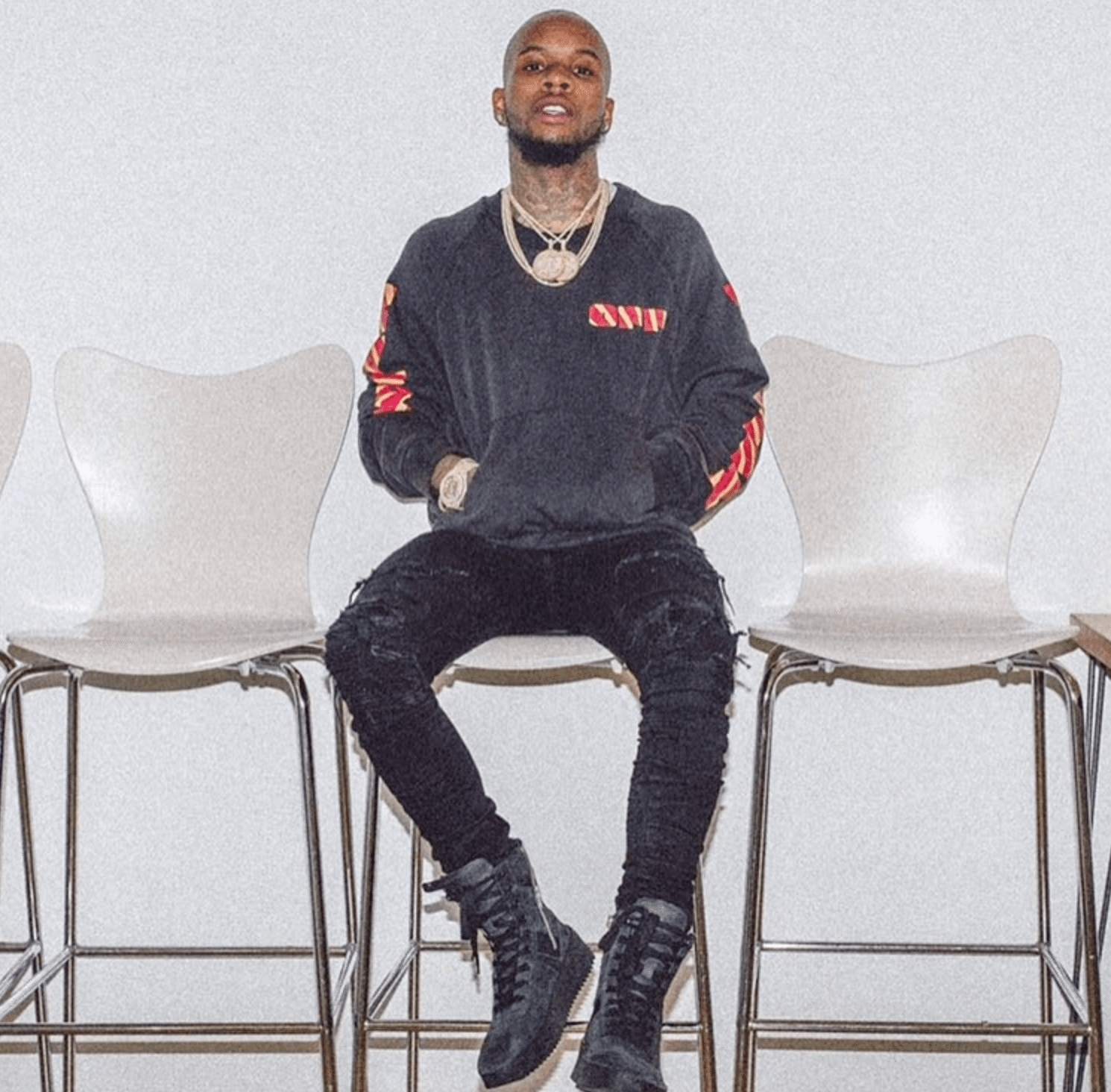 Tory Lanez in the Fear of God Sneakers