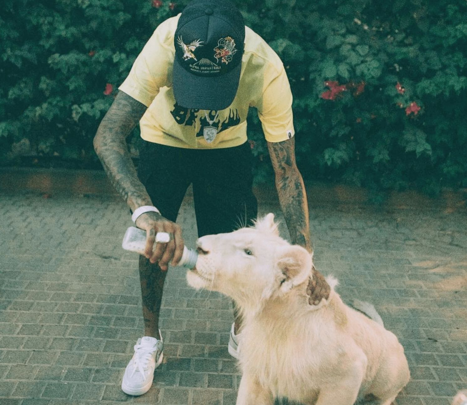 "Tyga in the Nike Air Force 1 Low ""Easter"""