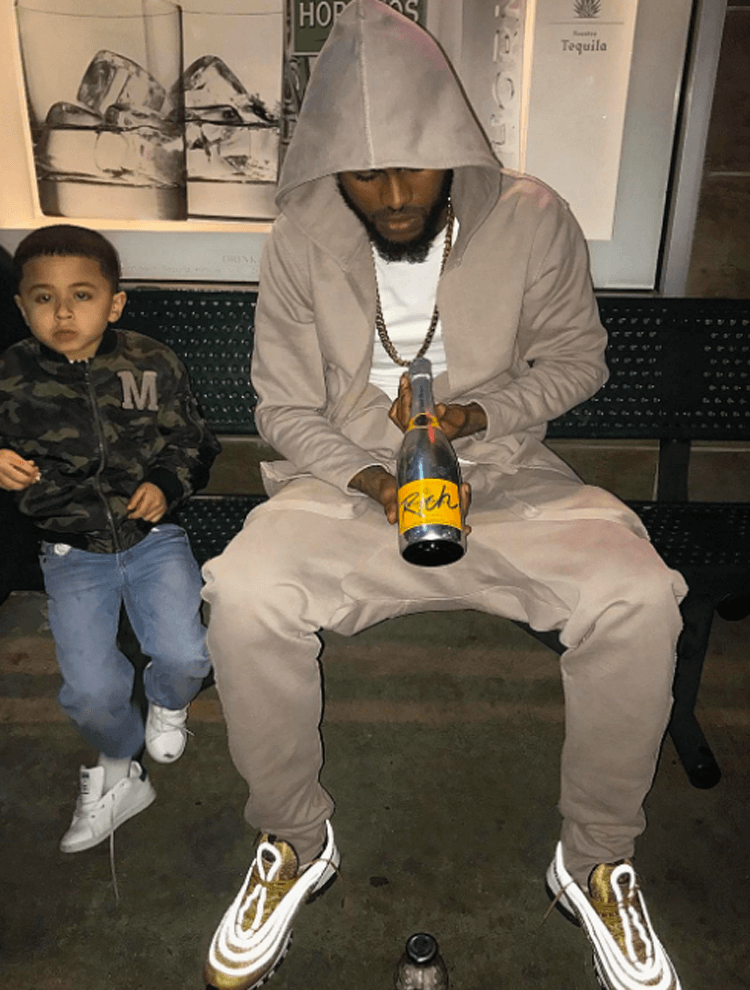 """Dave East in the Nike Air Max 97 """"Gold"""""""