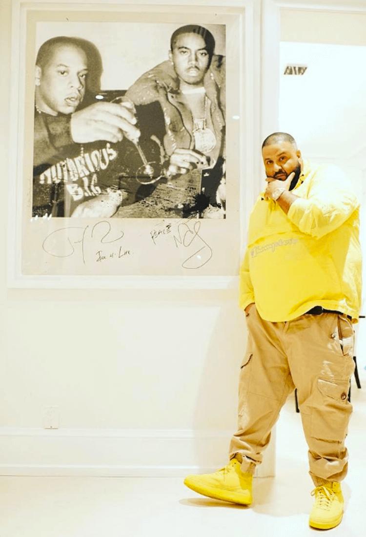 DJ Khaled in the Air Jordan 2 Decon
