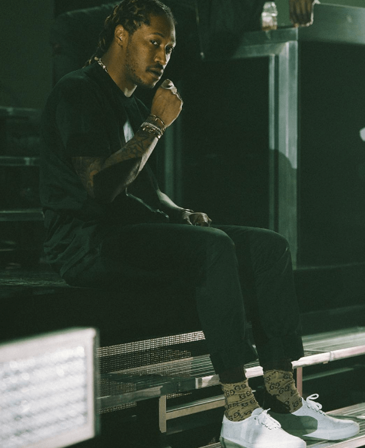 Future in Louis Vuitton sneakers