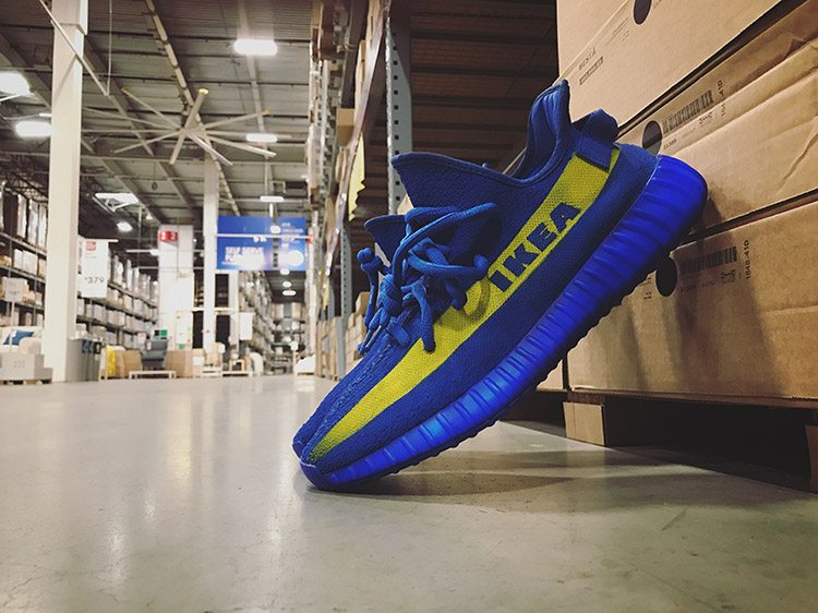 IKEA x Adidas Yeezy Boost 350 V2 custom by Mache