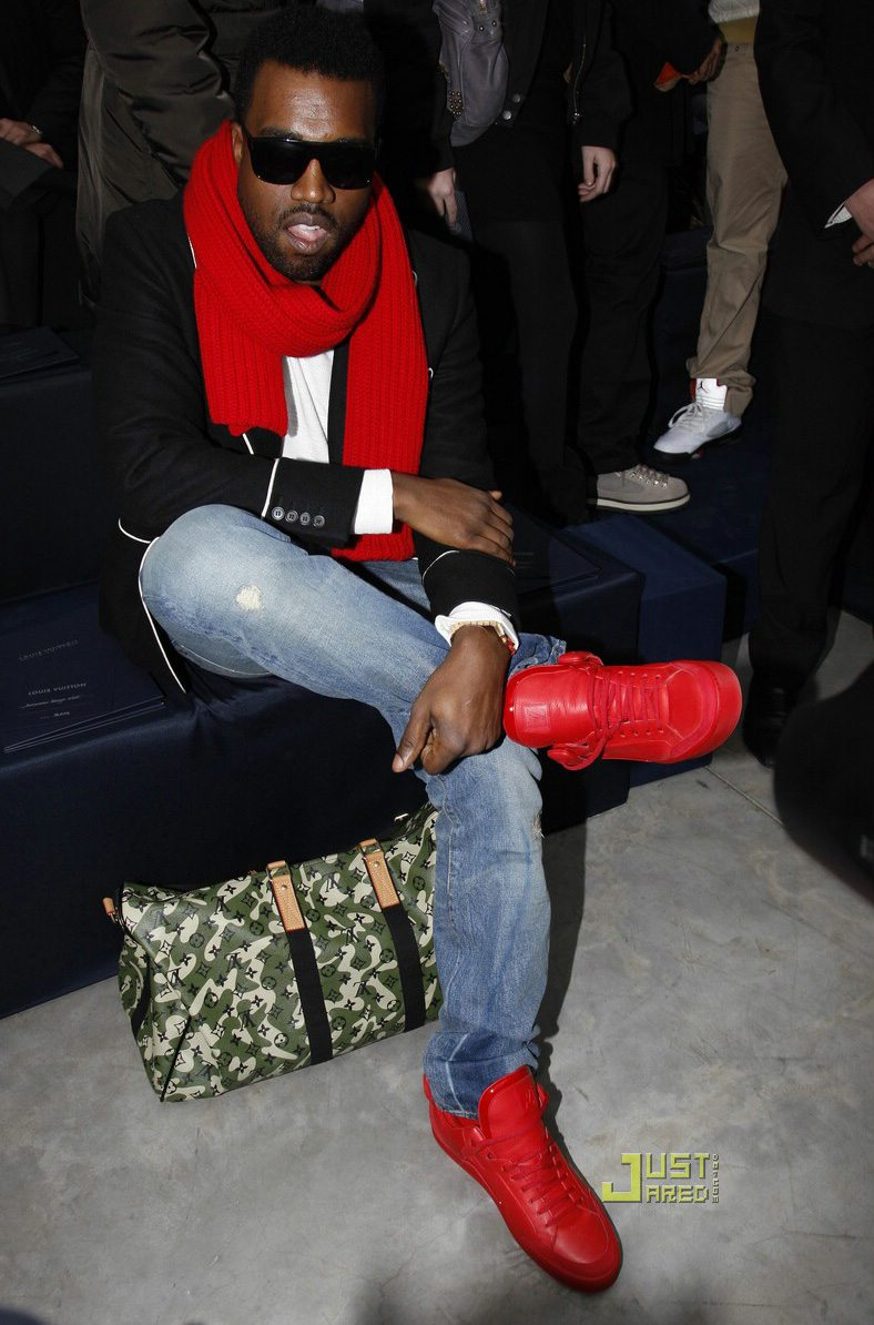 Kanye West in the Louis Vuitton Red