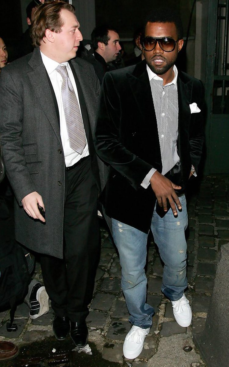 """Kanye West in the Louis Vuitton Mr Hudson's """"White"""""""
