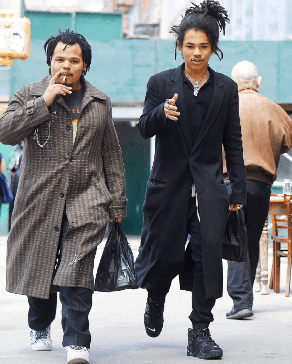 Luka Sabbat in the Supreme x Nike Air More Uptempo