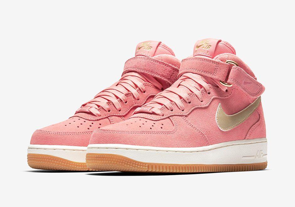 Nike Air Force 1 Mid Black Suede 818596 003 |