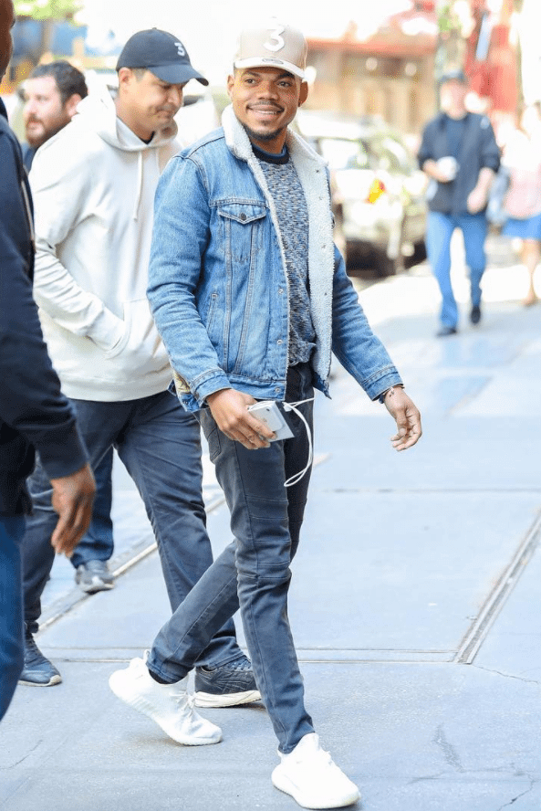 "Chance the Rapper in the Adidas Yeezy Boost 350 V2 ""Cream White"""