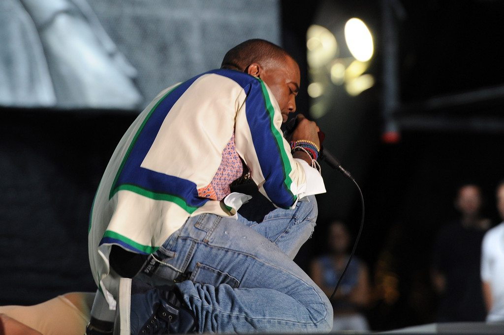 Kanye West in the Lanvin Sneakers