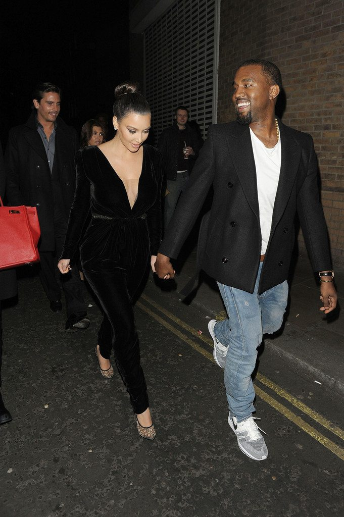 Kanye West in the Nike Flyknit Trainer
