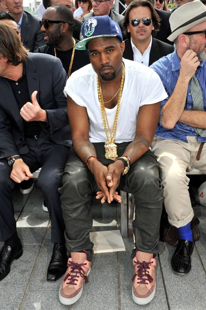 Kanye West in the Kanye West x Louis Vuitton Don