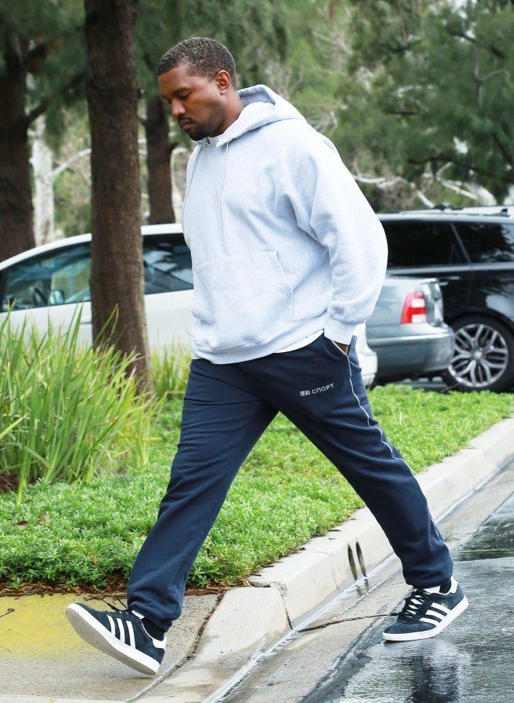 Kanye West in the Adidas Gazelle