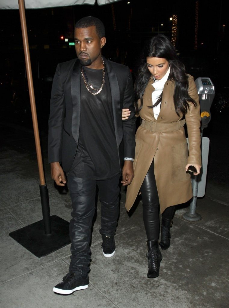 Kanye West in the adidas Stan Smith Black/Gold