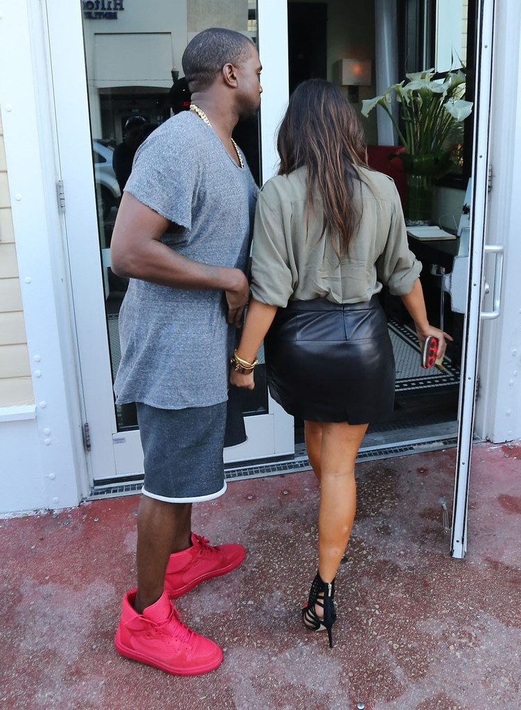 Kanye West in the Balenciaga Pleated Sneakers
