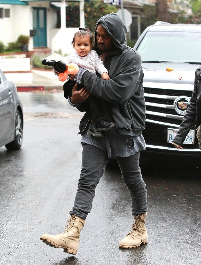 Kanye West in the Rothco Jubgle Boots