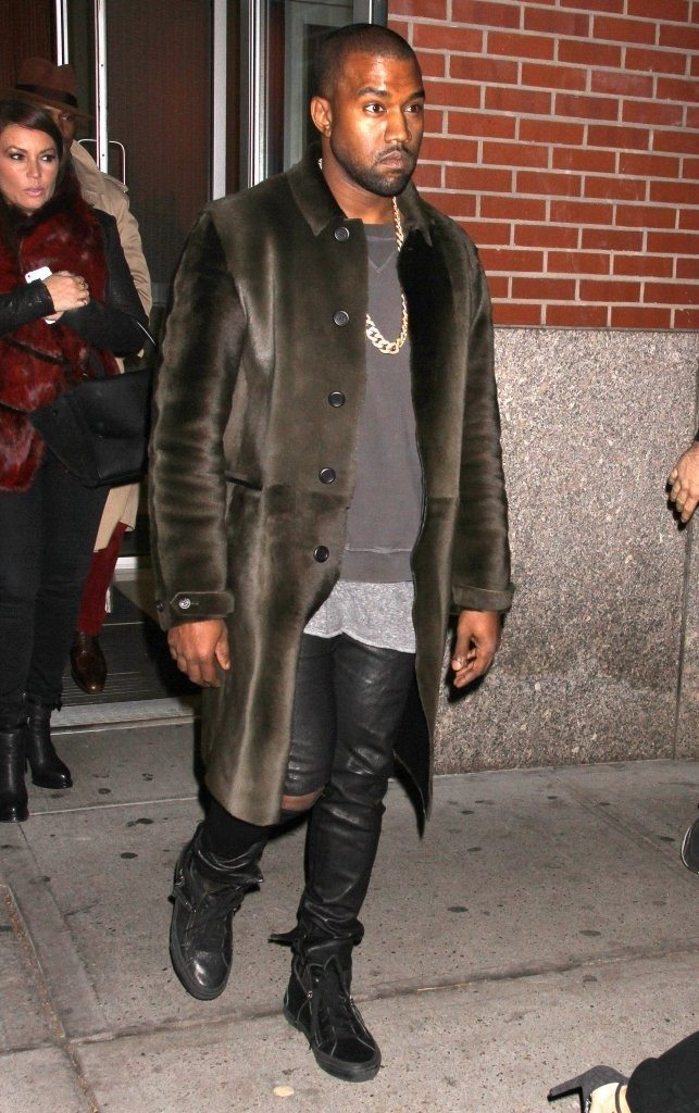 Kanye West in the Giuseppe Zanotti Sneakers