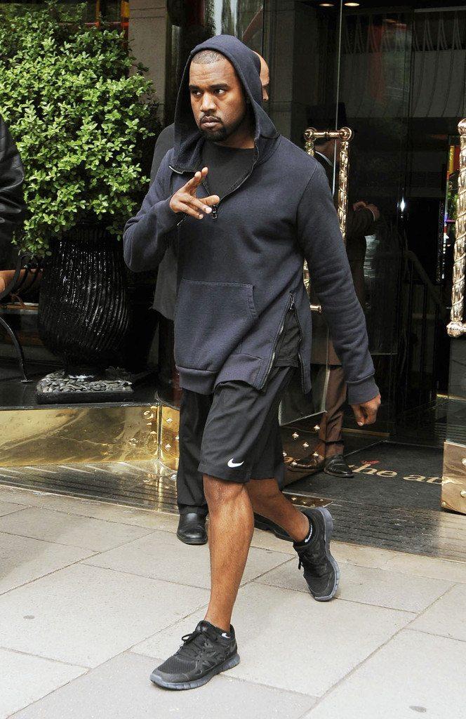 Kanye West in the Nike Free Run 2