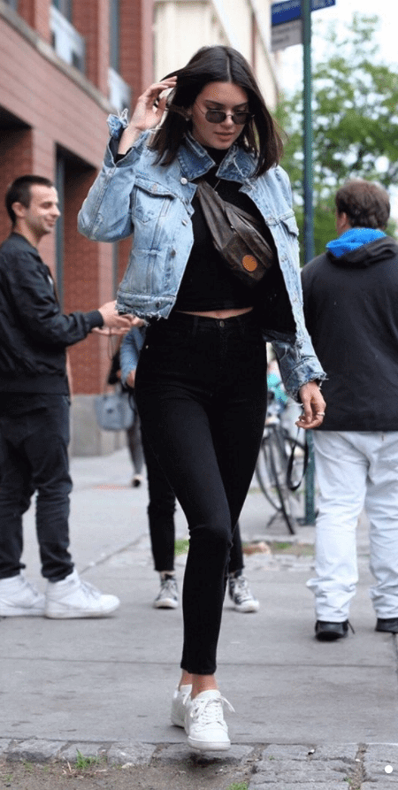 Kendall Jenner in the Adidas Yeezy Powerphase
