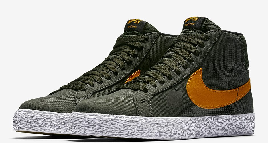 Nike SB Blazer Mid Olive/Orange