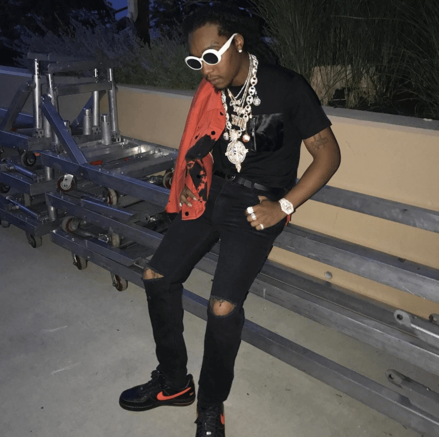 Takeoff in the VLone x NikeLab Air Force 1 Low