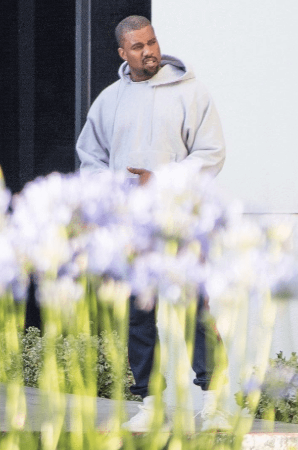 "Kanye West in the Adidas Yeezy Boost 350 V2 ""Cream White"""