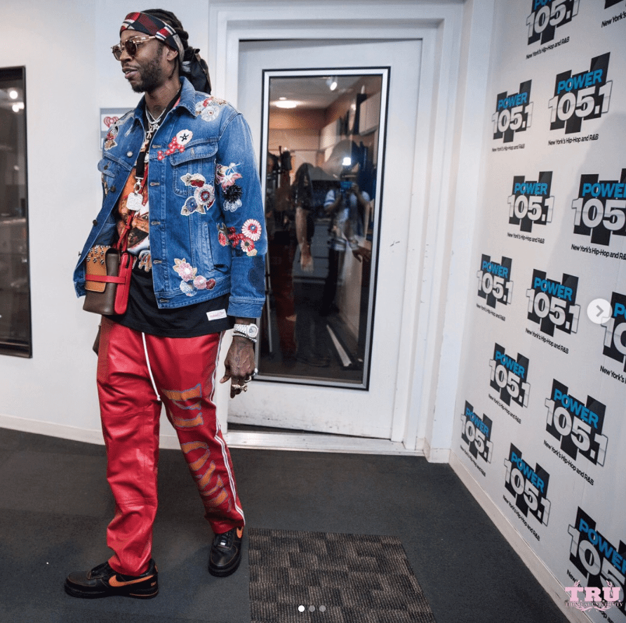 2 Chainz in the Vlone x NikeLab Air Force 1 Low