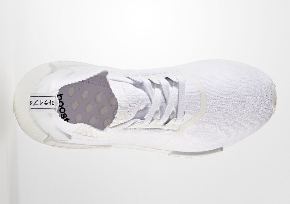 Adidas Nmd R1 Pk Triple White Gets Updated With Japanese Symbols