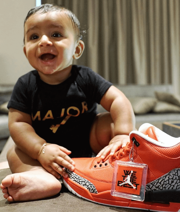 "Asahd Khaled with the Air Jordan 3 ""Grateful"" PE"