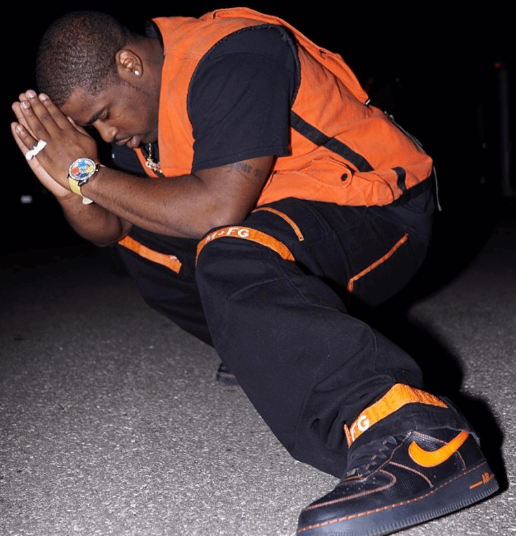 A$AP Ferg in the VLONE x Nike Air Force 1 Low