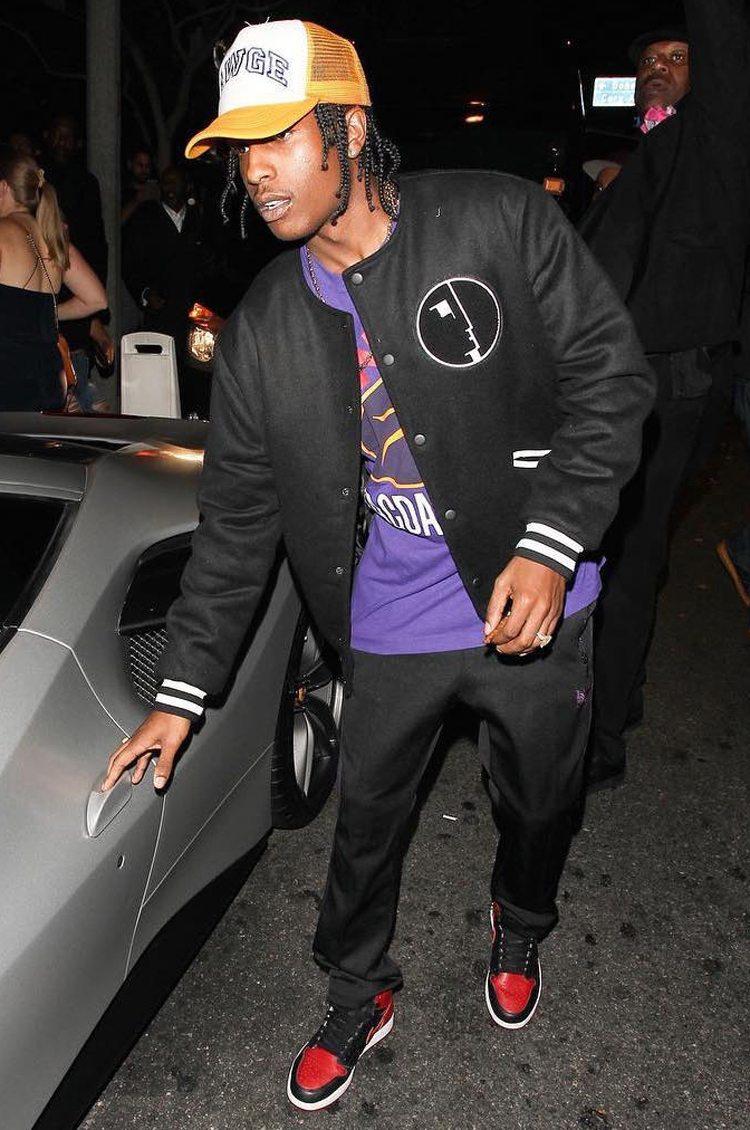 "A$AP Rocky in the Air Jordan 1 ""Banned"""