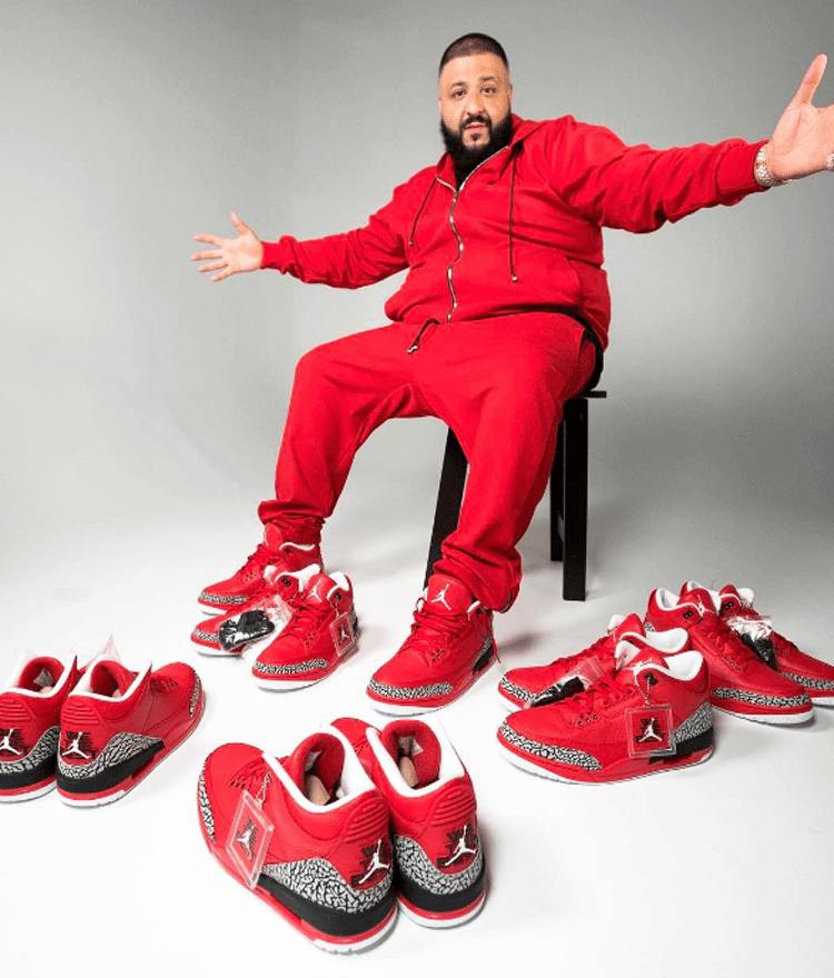 "DJ Khaled in the Air Jordan 3 ""Grateful"" PE"