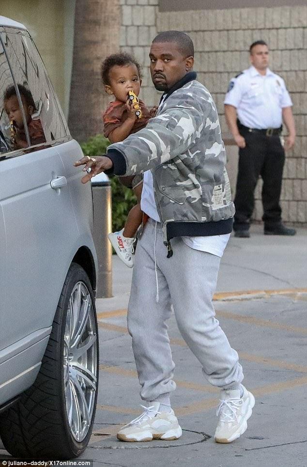 Kanye West in the adidas Yeezy Season 6 Runner