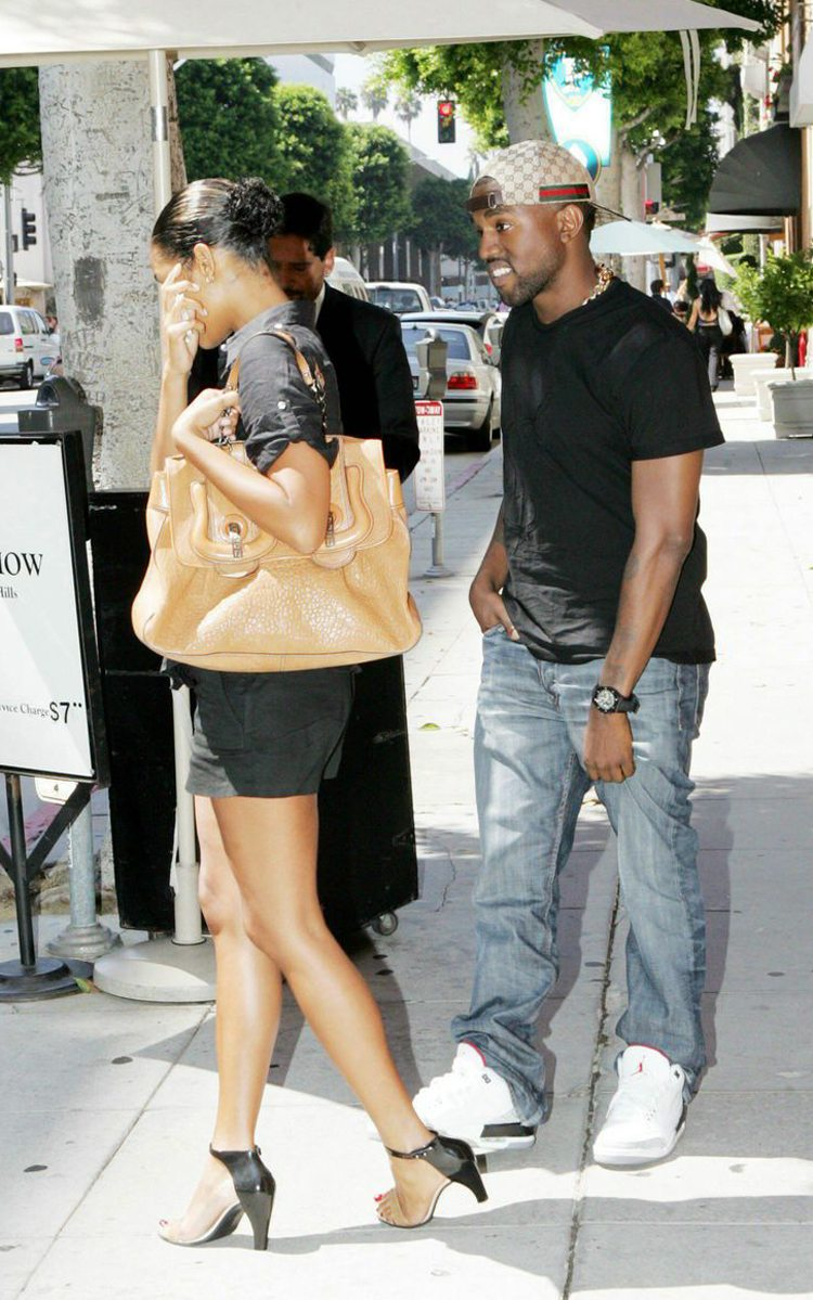 Kanye West in the '03 Air Jordan 3 White/Cement