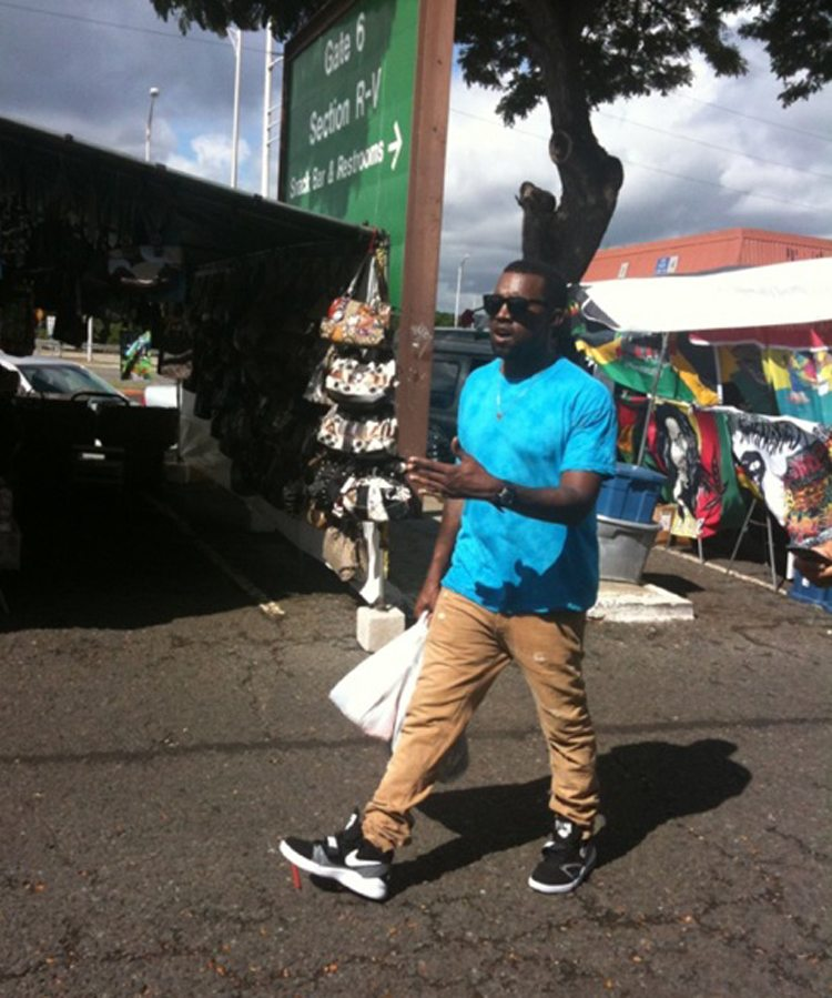Kanye West in the Nike Air Alphalution