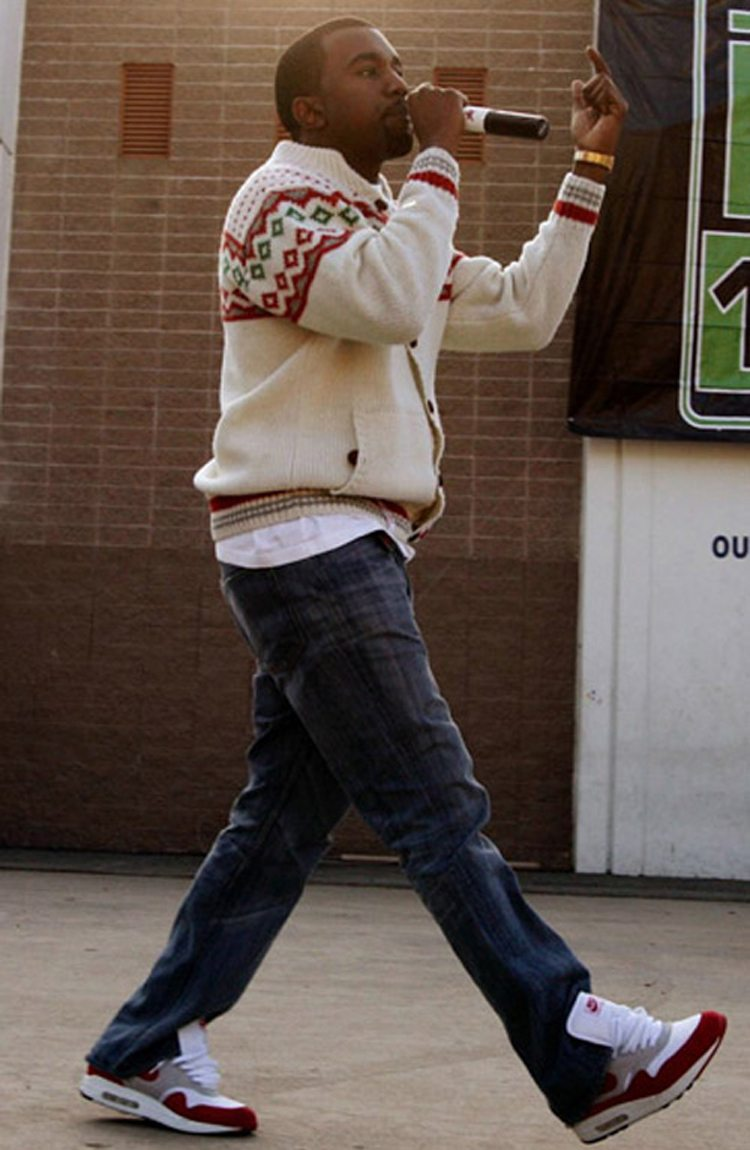 Kanye West in the Nike Air Max 1