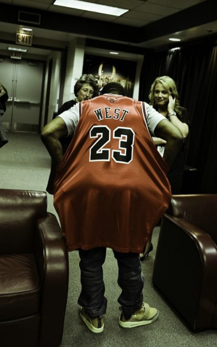 """Kanye West in the Nike Air Yeezy 1 """"Net"""""""