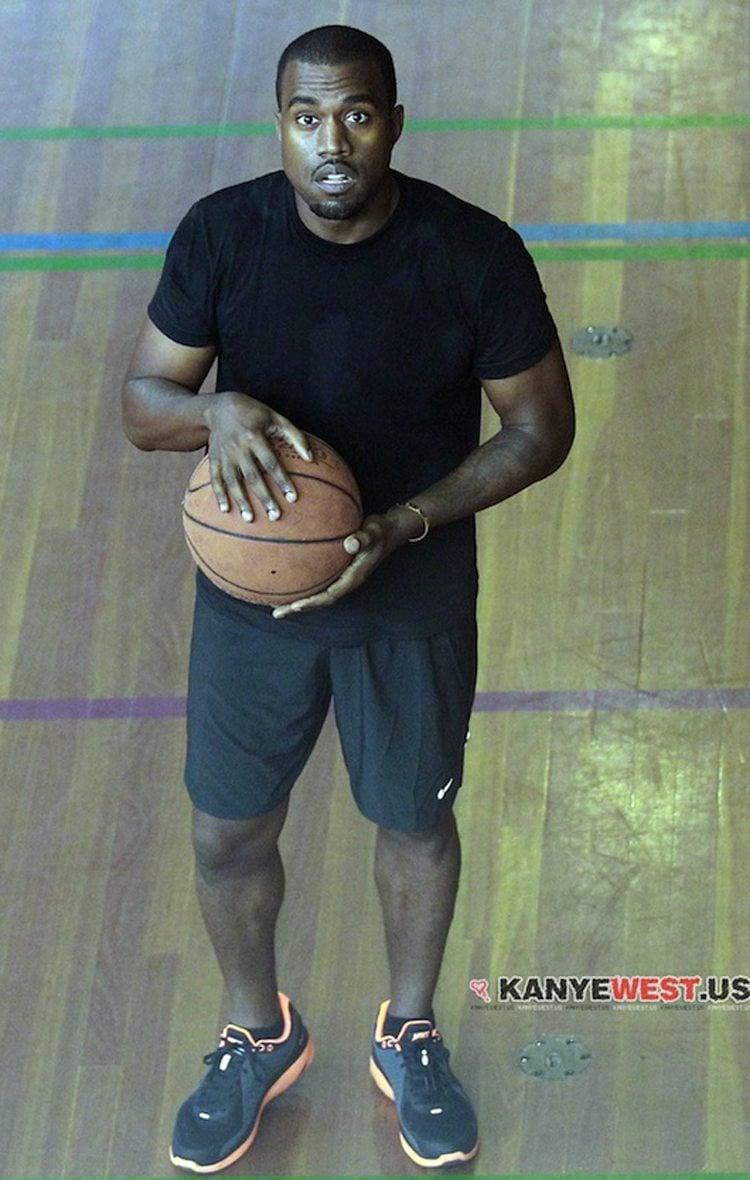 Kanye West in the Nike Lunarswift