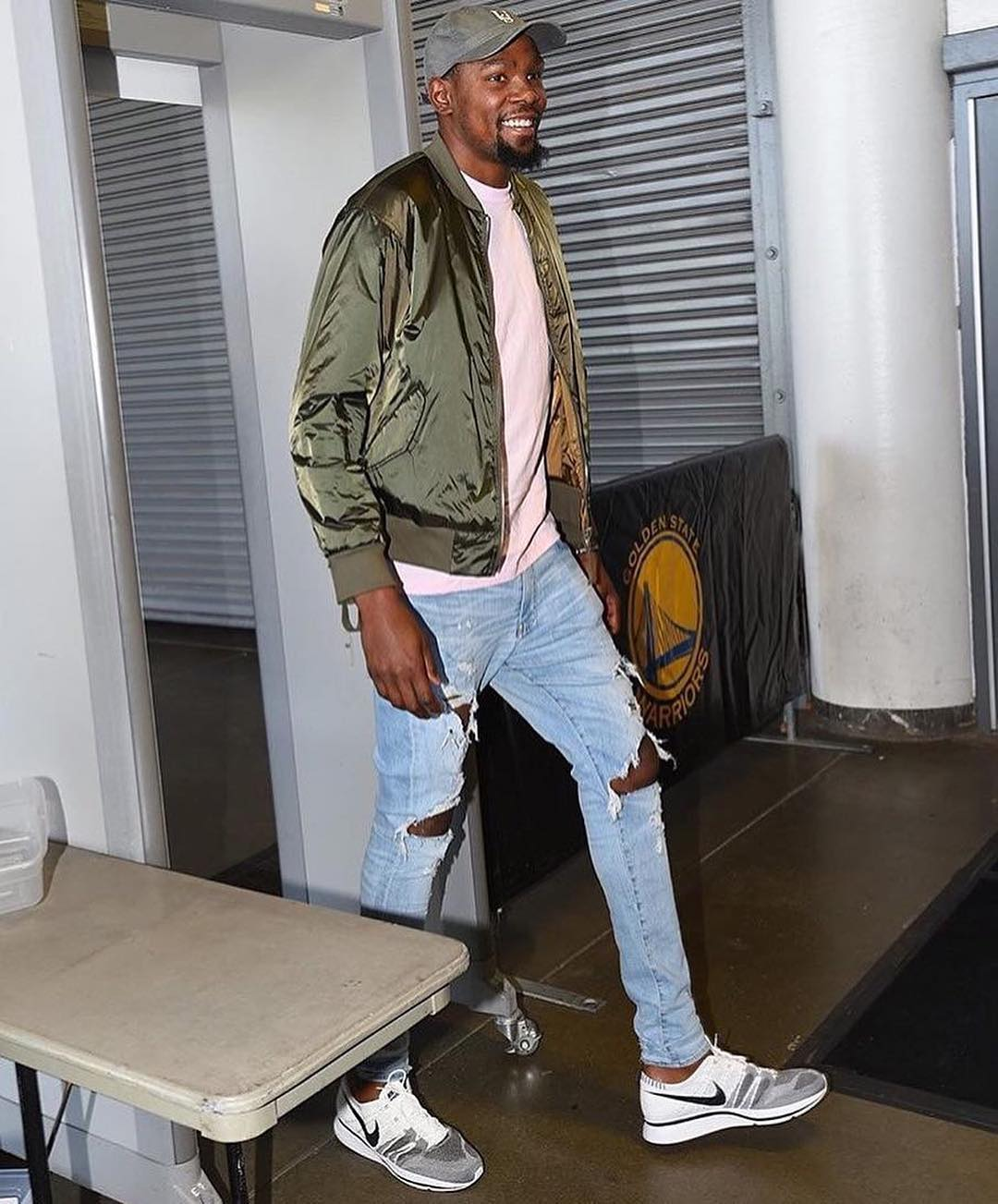 Kevin Durant in the Nike Flyknit Trainer