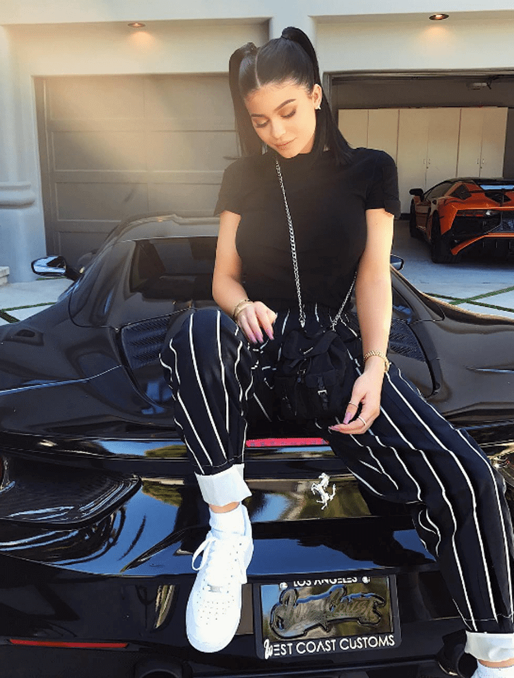 Kylie Jenner in the Nike Air Force 1 Low